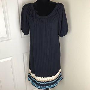 Adrianna Papell short sleeve navy blue knit dress